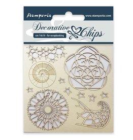 Stamperia Decorative chips cm. 14x14 Arctic