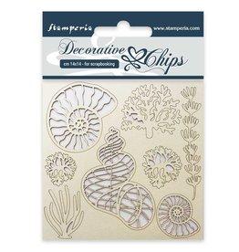 Stamperia Decorative chips cm. 14x14 Shells