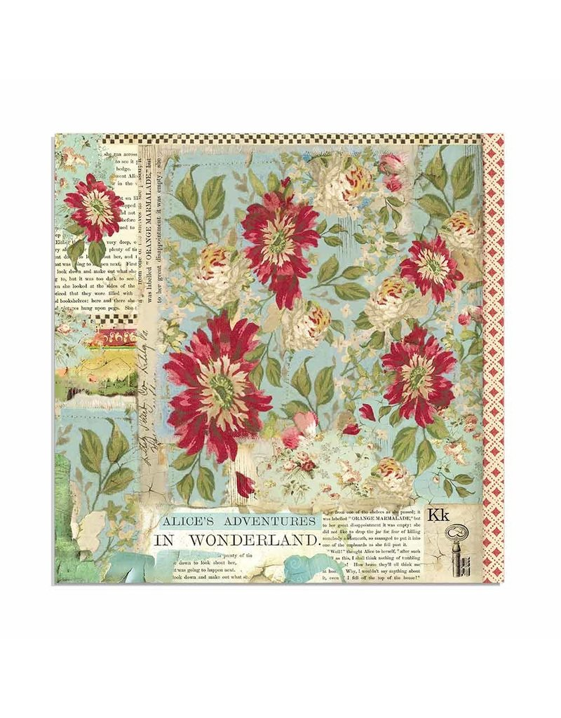 """Stamperia Block 22 sheets 30.5x30.5 (12""""x12"""") Single Face Alice"""