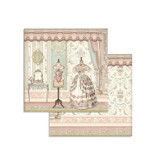 """Stamperia Block 10 Sheets 20.3X20.3  (8""""X8"""") Double Face Princess"""