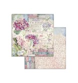 """Stamperia Block 10 Sheets 20.3X20.3  (8""""X8"""") Double Face Hortensia"""