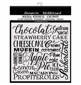 Stamperia Thick stencil cm. 18X18  Chocolat