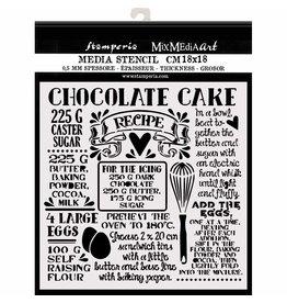Stamperia Thick stencil cm. 18X18  Chocolate cake