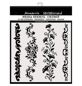 Stamperia Thick stencil cm. 18X18 Borders