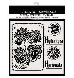 Stamperia Thick stencil cm. 18X18 Hortensia Frames