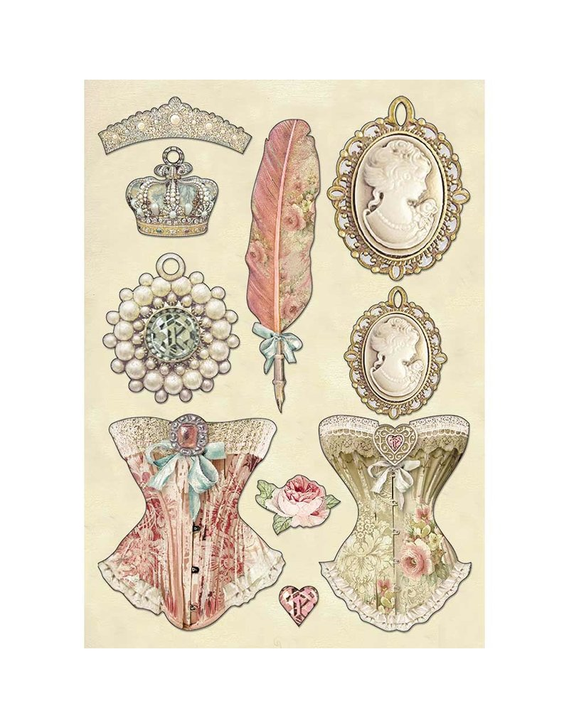 Stamperia Colored Wooden shape A5 - Princess's jewellery