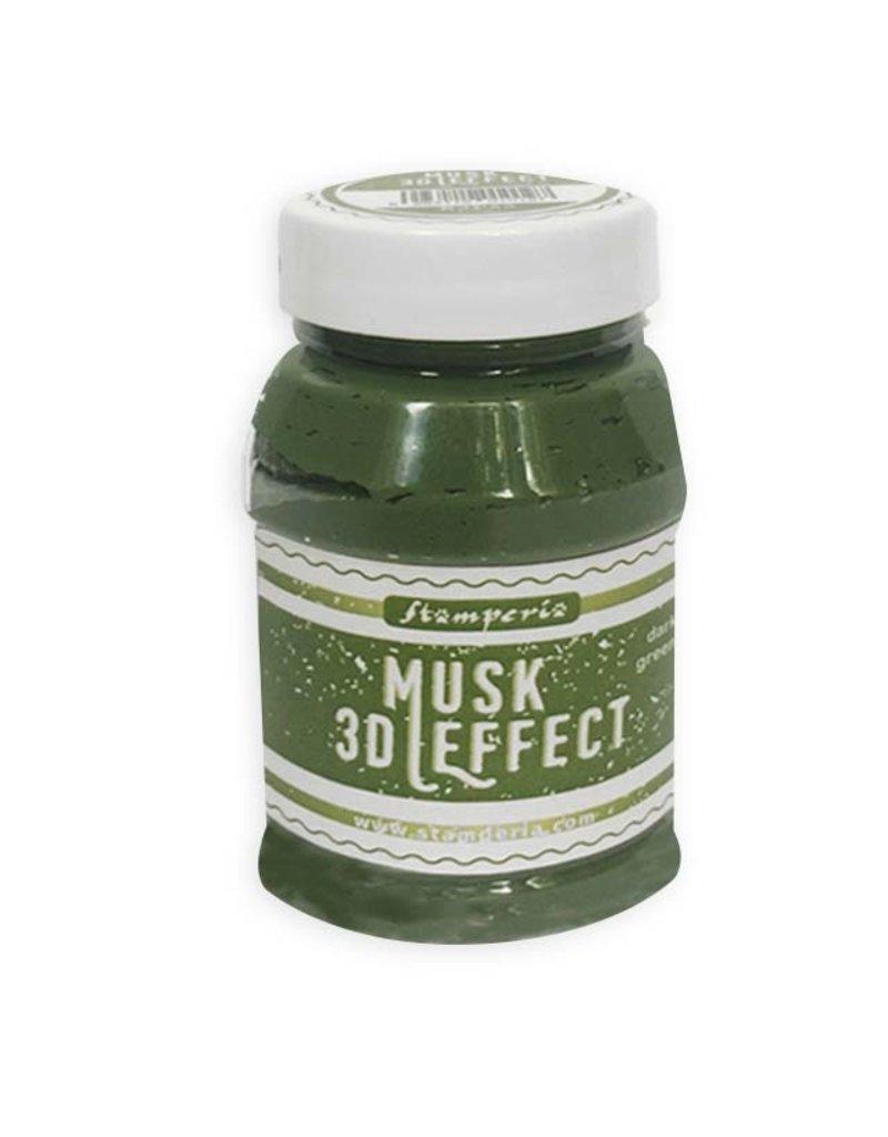 Stamperia 3D Musk effect 100 ml. Dark Green