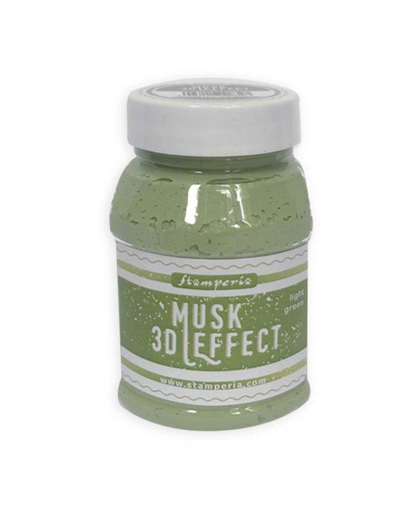 Stamperia 3D Musk effect 100 ml. Light Green