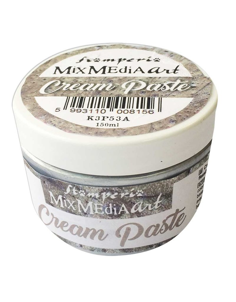 Stamperia Cream Paste metallic 150 ml. Silver
