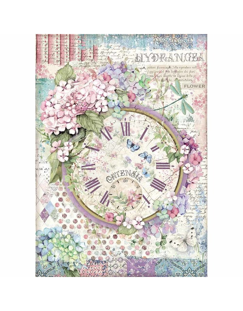 Stamperia A4 Rice paper packed Clock
