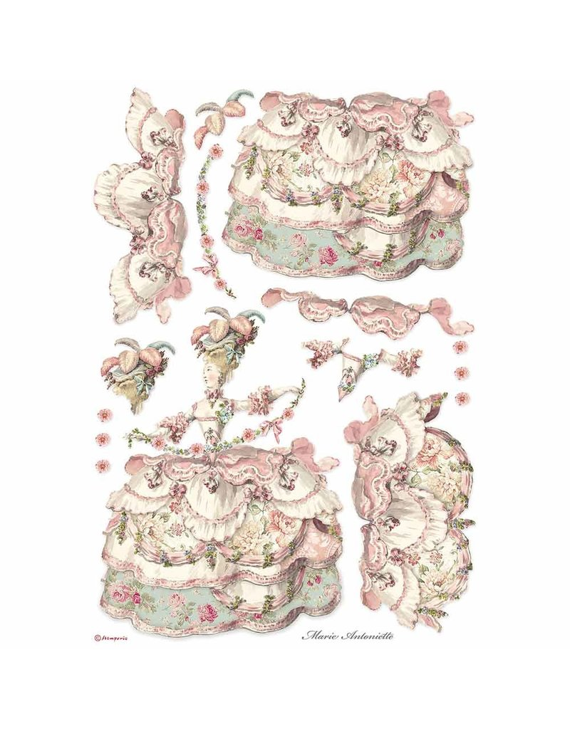 Stamperia A3 Rice paper packed Lady Pink
