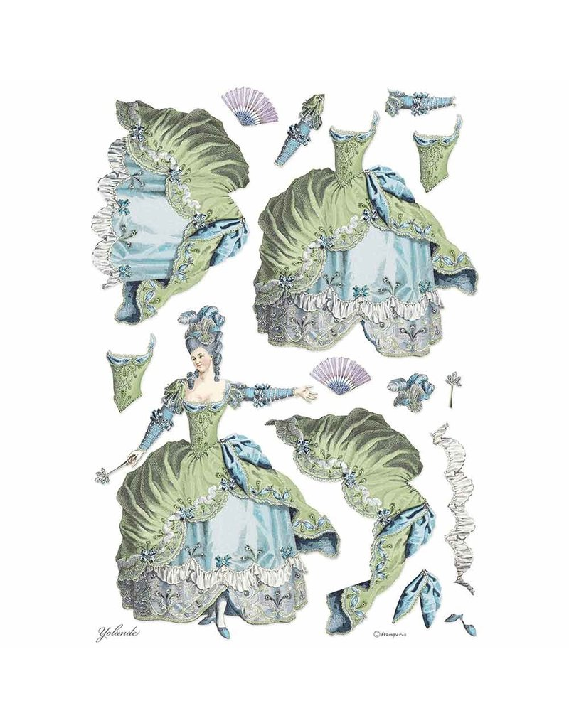 Stamperia A3 Rice paper packed Lady Green