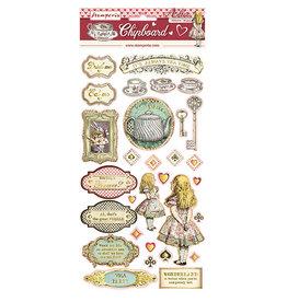 Stamperia Chipboard cm. 15x30 - Alice Gold