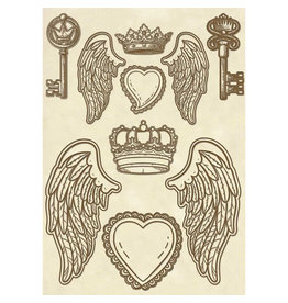 Stamperia Wooden frame A5 - Wings
