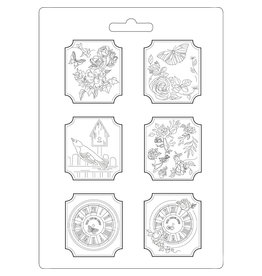 Stamperia Soft Mould A4 - Plaquettes House of Roses