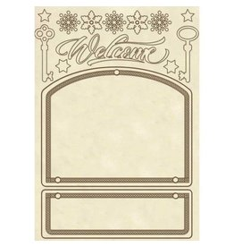 Stamperia Wooden frame A5 - Door decoration