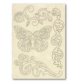 Stamperia Wooden frame A5 - Butterfly