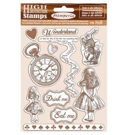 Stamperia HD Natural Rubber Stamp  cm.14x18 Alice