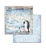 "Stamperia Block 10 Sheets 20.3X20.3  (8""X8"") Double Face Arctic Antarctic"