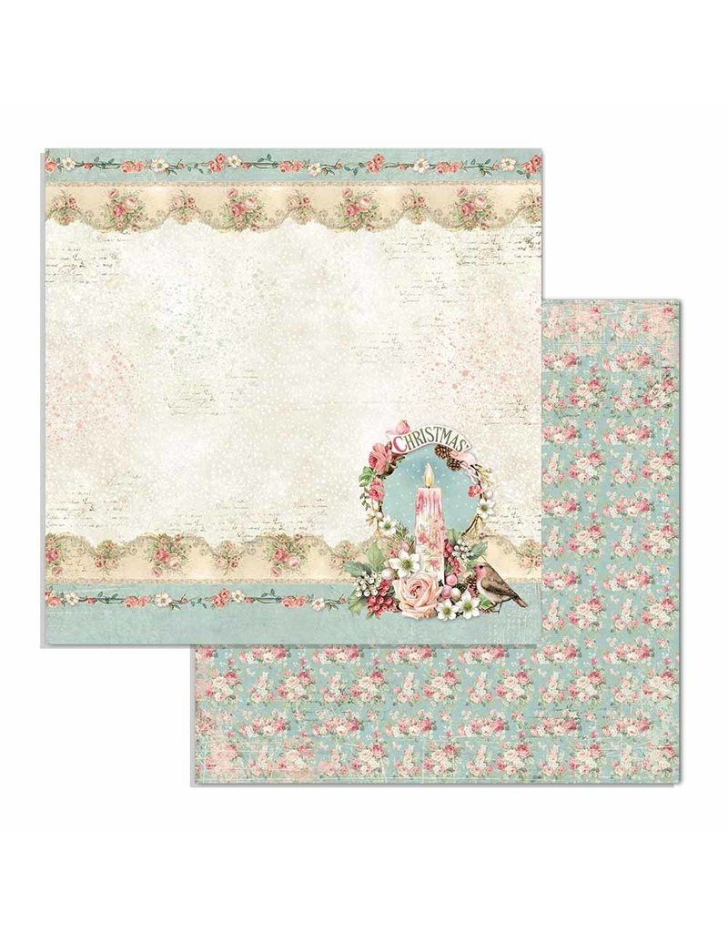 """Stamperia Block 10 sheets 30.5x30.5 (12""""x12"""") Double Face Pink Christmas"""