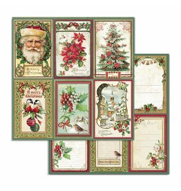 Stamperia Double Face Paper Classic Christmas cards