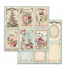 Stamperia Double Face Paper Pink Christmas cards