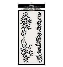 Stamperia Thick stencil cm. 12X25 Christmas borders