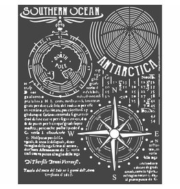 Stamperia Thick stencil cm. 20X25 Southern Ocean