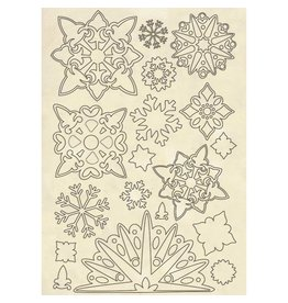 Stamperia Wooden shape A5 - Snowflakes