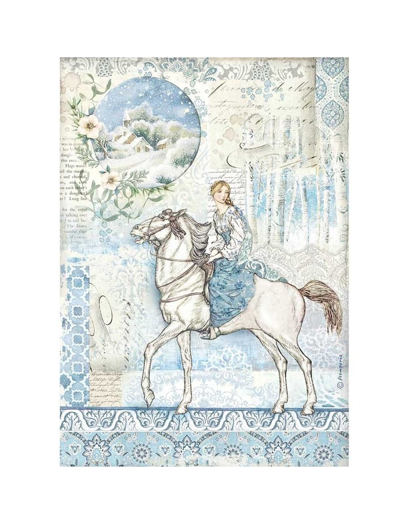 Stamperia A4 Rice paper packed Horse