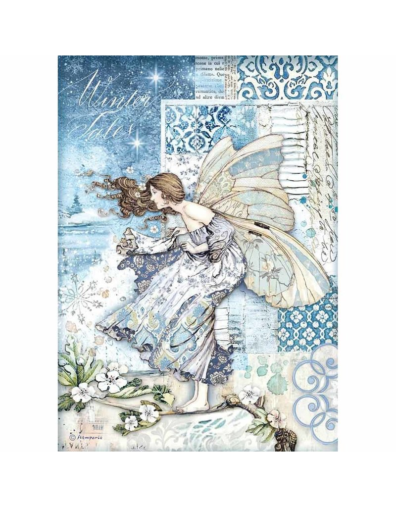 Stamperia A4 Rice paper packed Fairy in the wind