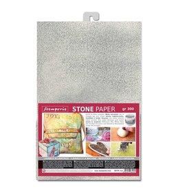 Stamperia Stone paper A4 Silver