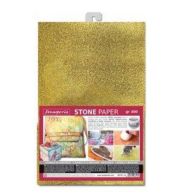 Stamperia Stone paper A4 Gold