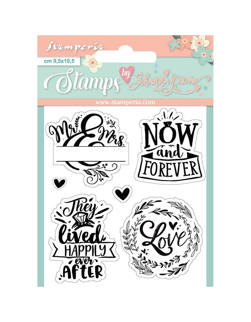 Stamperia Acrylic stamp cm. 9,5x10,5 Now and forever
