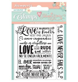 Stamperia Acrylic stamp cm. 9,5x10,5 Love never fails