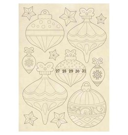Stamperia Wooden frames A5 size - Christmas balls