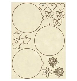Stamperia Wooden frames A5 size -Christmas spheres