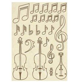 Stamperia Wooden frames A5 size - Violins