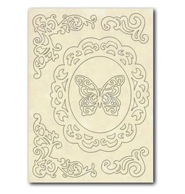 Stamperia Wooden frames A5 size - Frame, Corners and Butterfly