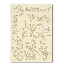 Stamperia Wooden frames A5 size - Quotes