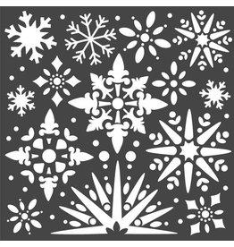 Stamperia Thick stencil cm. 18x18 Snowflakes