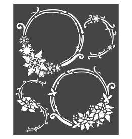 Stamperia Thick stencil cm. 20x25 Garlands