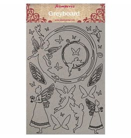 Stamperia A4 Greyboard/1mm Fairies