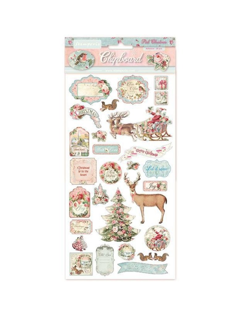 Stamperia Chipboard cm.15x15 Pink Christmas