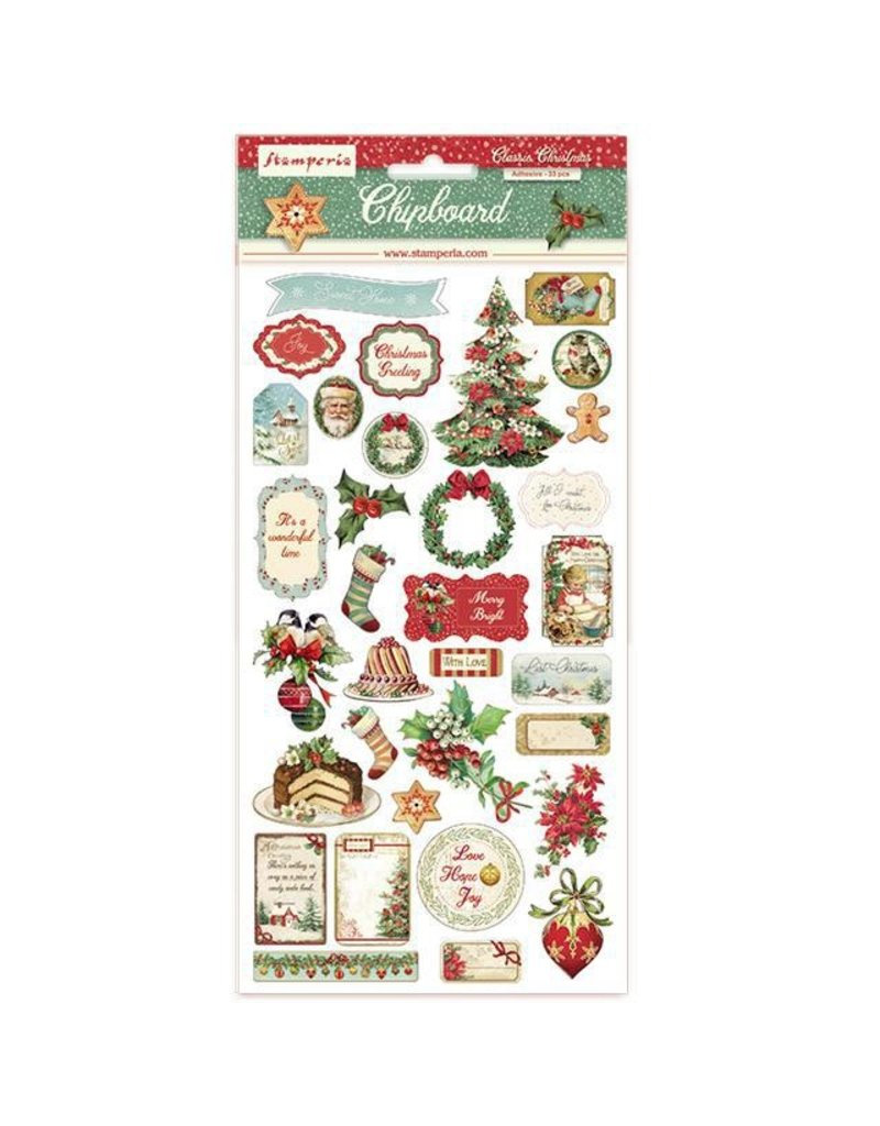 Stamperia Chipboard cm.15x15 Classic Christmas