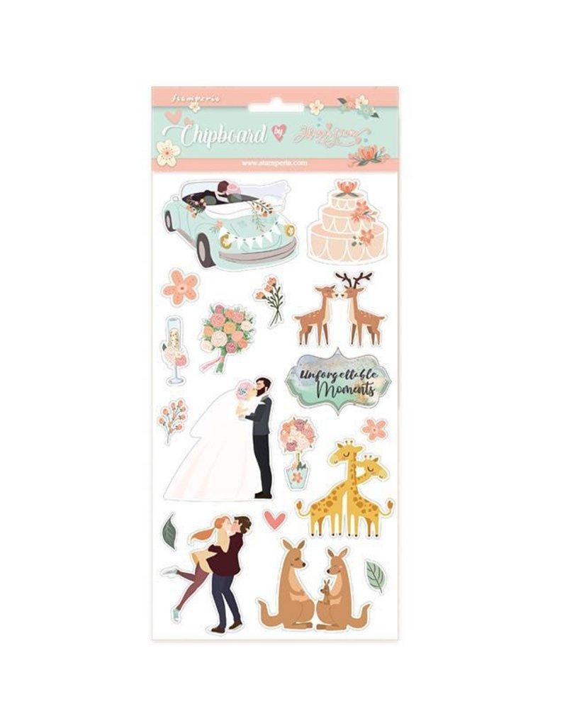 Stamperia Chipboard cm.15x15 Wedding subjects