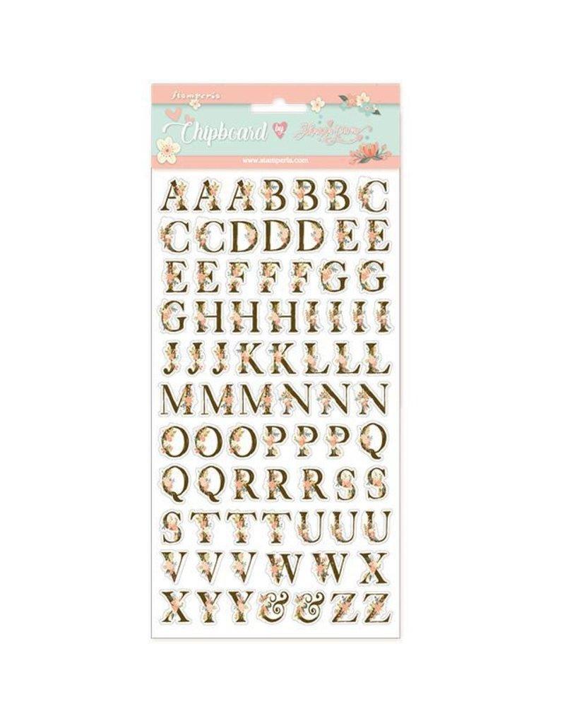 Stamperia Chipboard cm.15x15 Alphabet