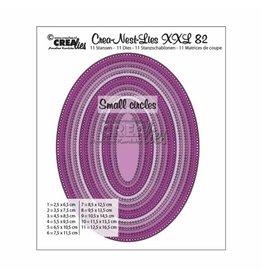 Crealies Crea-Nest-Lies XXL snijmal no,82 ovalen met kleine gaatjes