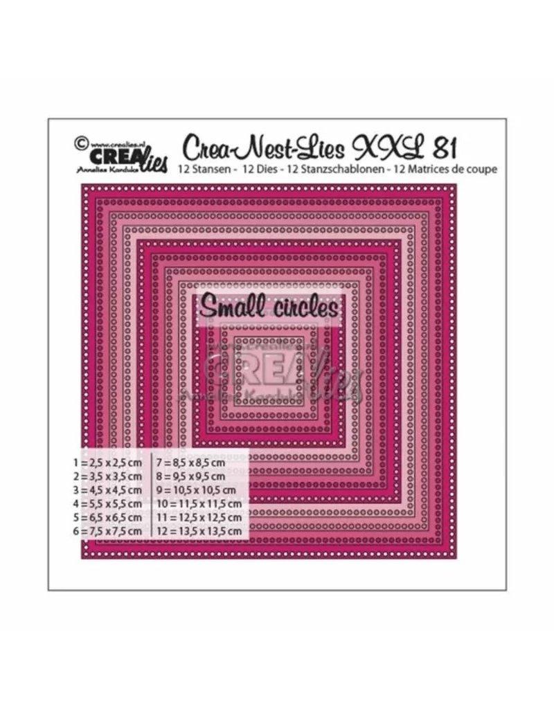 Crealies Crea-Nest-Lies XXL snijmal no,81 vierkant met kleine gaatjes
