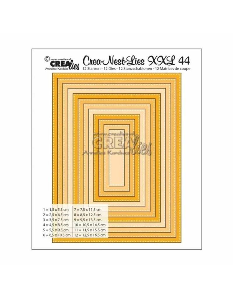 Crealies Crea-Nest-Lies XXL snijmal no,44 rechthoeken